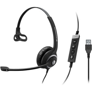 Single-Sided Pro Comm Headset W/ USB and Mic Earpad Pouch Call / Mfr. No.: 506480
