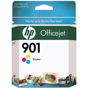 4pk Officejet 901 Tri-Color Ink Cartridge / Mfr. No.: Cc656an#140-Kit