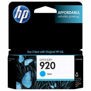 8pk 920 Cyan Officejet Ink Cartridge / Mfr. No.: Ch634an#140-Kit