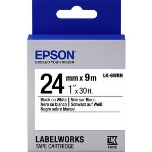 Ruban Titreuse Etiquettes Epson LK-6WBN - S656006