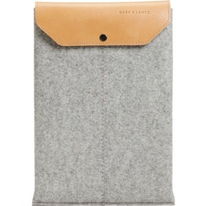 Steel Felt Tan Leather Flap Sleeve MacBookpro 15in Open Box / Mfr. No.: 4502st-Db/Ob