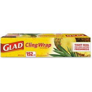 "Glad® Cling Wrap 12""W x 498'L"
