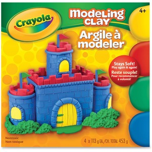 Crayola® Modelling Clay 113.25 g Assorted Colours 4/box