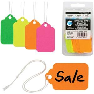 Tags Merch Ast Neon 100/pk Merangue