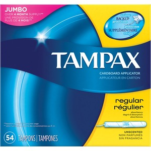 Tampax® Tampons Flushable Regular Unscented 54/box
