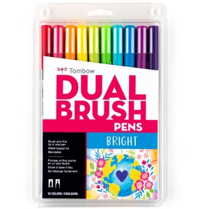 Tombow Markers Dual Brush Bright 10/set