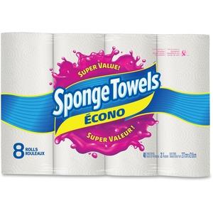 SpongeTowels® Econo Paper Towels 40 sheets per roll 8 rolls/pkg