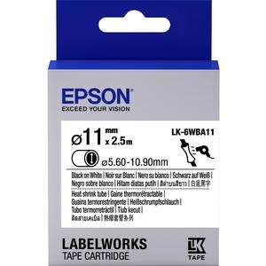Epson LabelWorks LK-6WBA11 - Tube - noir sur blanc - C53S656902