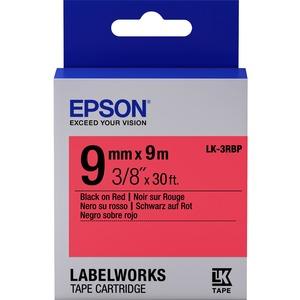 Epson LabelWorks LK-3RBP - Bande d'étiquettes - Noir sur rouge - Rouleau (0,9 cm x 9 m) 1 - C53S653001
