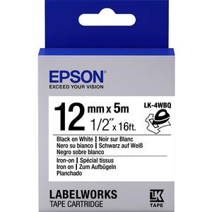 Epson LabelWorks LK-4WBQ - Bande d'étiquettes - noir sur blanc - Rouleau (1,2 cm x 5 m) 1 - C53S654024