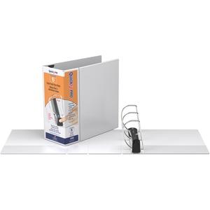 "Davis Group QuickFit® PRO HD Single Touch Pin-Lock® View Binders 5"" White"