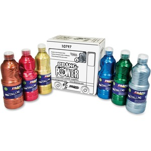 Prang® Ready-To-Use Tempera Paint 473 mL Assorted Metallic Colours 6/box