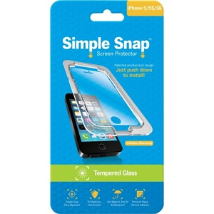 Simple Snap Screen Protector IPhone 5/5s Tempered Glass / Mfr. No.: Ss0003