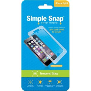 Simple Snap Screen Protector IPhone 6/6s Tempered Glass / Mfr. No.: Ss0018