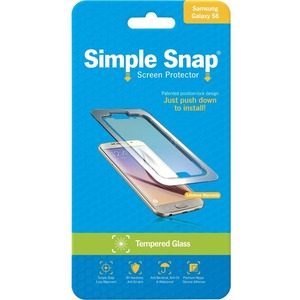 Simple Snap Screen Protector Samsung Galaxy S6 Tempered Glas / Mfr. No.: Ss0022