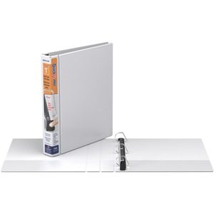 "Davis Group QuickFit® PRO HD Single Touch Pin-Lock® View Binders 1"" White"