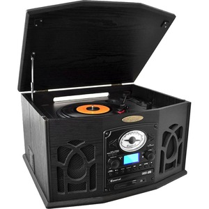 Bluetooth Retro Turntable Am/Fm Vinyl-To-Mp3 Recording / Mfr. No.: Ptcds7ubtb