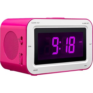 Bigben Interactive Alarm Clock Radio 'Stickers' (Pink)