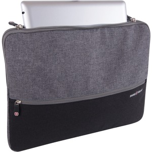 Notebook Sleeve Blk/Grey Swiss