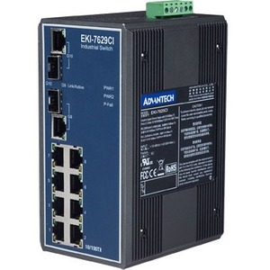 B+B 8+2G Combo Port Gigabit Unmanaged Industrial Ethernet Switch