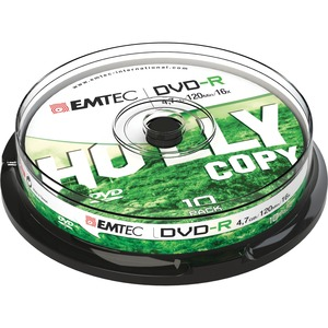 DVD-R EMTEC 4,7GB - 16x - Spindle de 10 - ECOVR471016CB
