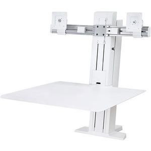 Ergotron WorkFit-SR Desk Mount for Monitor, Keyboard - White