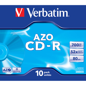 CD-R 80 700Mo Verbatim Pack de 10 boites cristal  - 43327