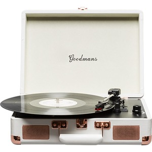 Goodmans Ealing | Portable Suitcase Turntable Cream