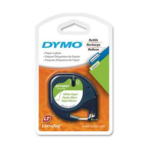 "DYMO® LetraTag® Replacement Paper Tape 1/2"" Black on White"