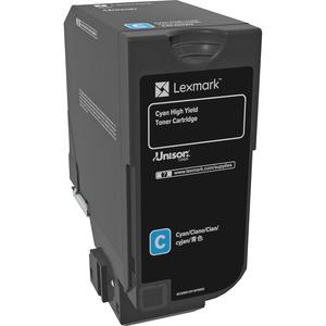 Toner Lexmark Cyan High Yield pour Lexmark CS725de, CS725dte - 74C0H20