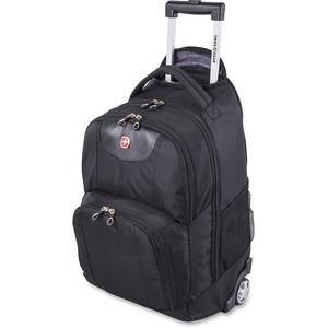 Backpack Laptop Rolling Blk Swiss