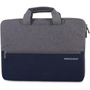 Notebook Sleeve Top Handle Blk/Grey Swiss