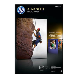 HP Advanced Glossy Photo Paper - Papier photo brillant - 100 x 150 mm - 250 g/m2 - 25 feuille(s) - Q8691A