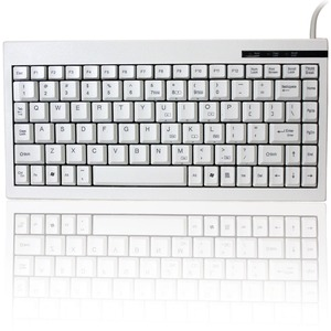 88key USB Mini Keyboard White W/ Embedded Numeric Keypad