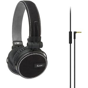 iLuv Deep Bass On-Ear Headphones With Canvas Fabric Exterior