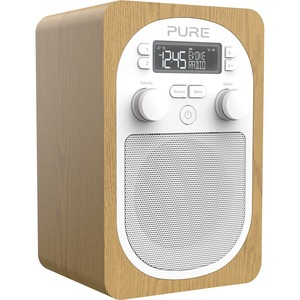 Pure Evoke H2 (Oak) Compact, Portable DAB Digital Radio with FM