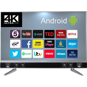 "Ferguson 50"" Android Smart 4K UHD TV with Intergrated Soundbar"