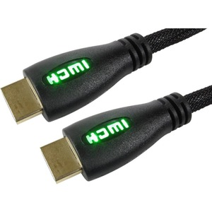 Cables Direct 3m HDMI Cable with Green LED Illuminated Connectors