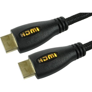 Cables Direct 1m HDMI Cable with Yellow LED Illuminated Connectors