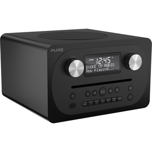 Pure Evoke C-D4 (Siena Black) Compact All-in-one Music System with Bluetooth