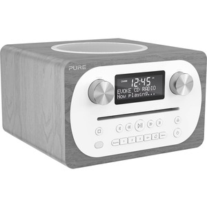 Pure Evoke C-D4 (Grey Oak) Compact All-in-one Music System with Bluetooth