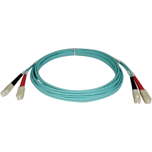 10m 10gb Duplex Mmf Patch Cable Lszh Aqua Fiber Sc/Sc 50/125 / Mfr. No.: N806-10m