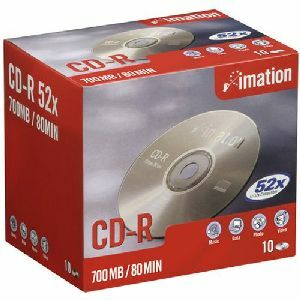 CD-R IMATION 80MN -52X -Eco-pack 10 CD - REDEVANCE INCLUSE - 21222