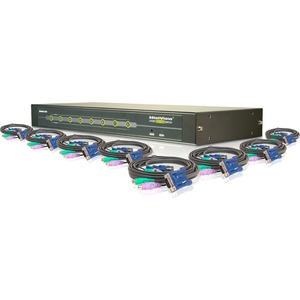 8port Ps2 VGA KVM Switch Rm 4-6ft Ps2 Cable 4-10ft Ps2 Cabl / Mfr. No.: Gcs78kit