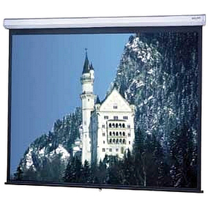 8ftx10ft Model C Manual Screen Wall/Ceiling Matte White Sq For