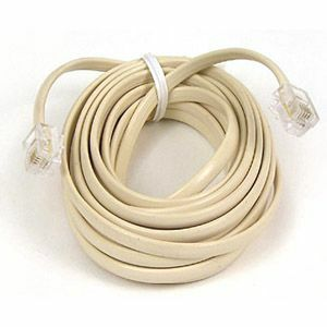25ft Rj11 M/M Wht Phone Modular Patch Cross Cable / Mfr. No.: F8v100-25-Wh