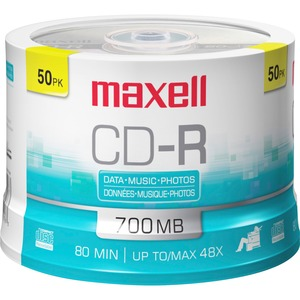 Maxell Recordable Cd 48 X 50 Spindle / Mfr. No.: 648250