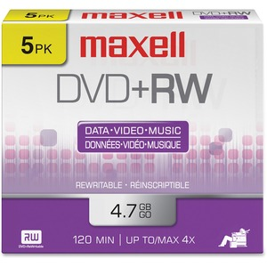 Maxell DVD+Rw 5 Pack / Mfr. No.: 634045