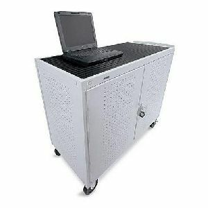 Grey Mist Storage Cart For 30u Laptoprear Elec Cust Pays Frt / Mfr. No.: Lap30erbba-Gm