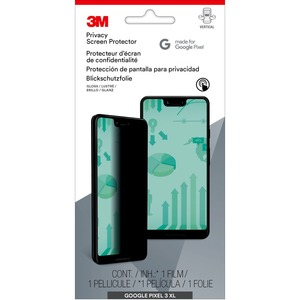 3M Privacy Screen Protector for Google Pixel 3XL Glossy, Tinted Clear